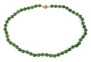 14K Jade Bead Necklace