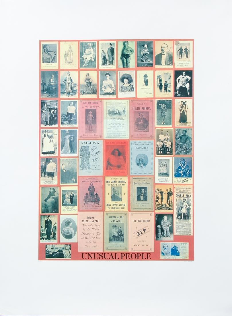 Sir Peter Blake 1991 silkscreen U is for Unusual People
