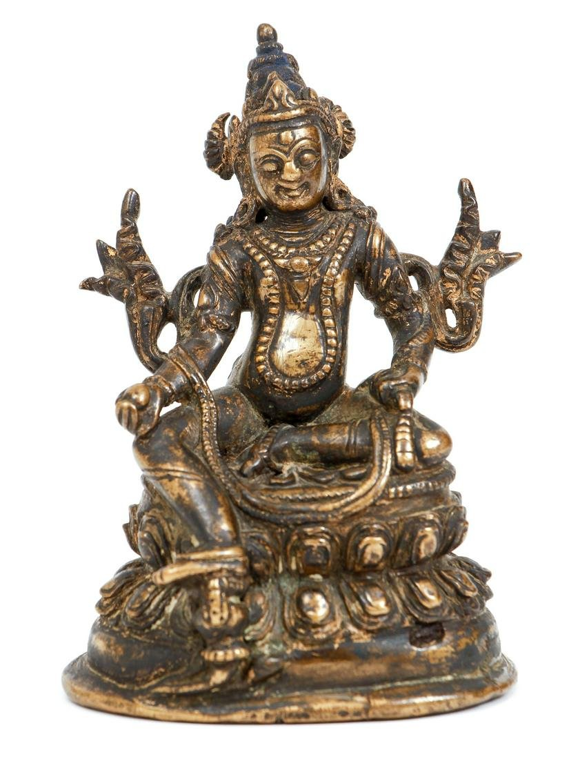 Tibetan Bronze Figure Yellow Jambhala