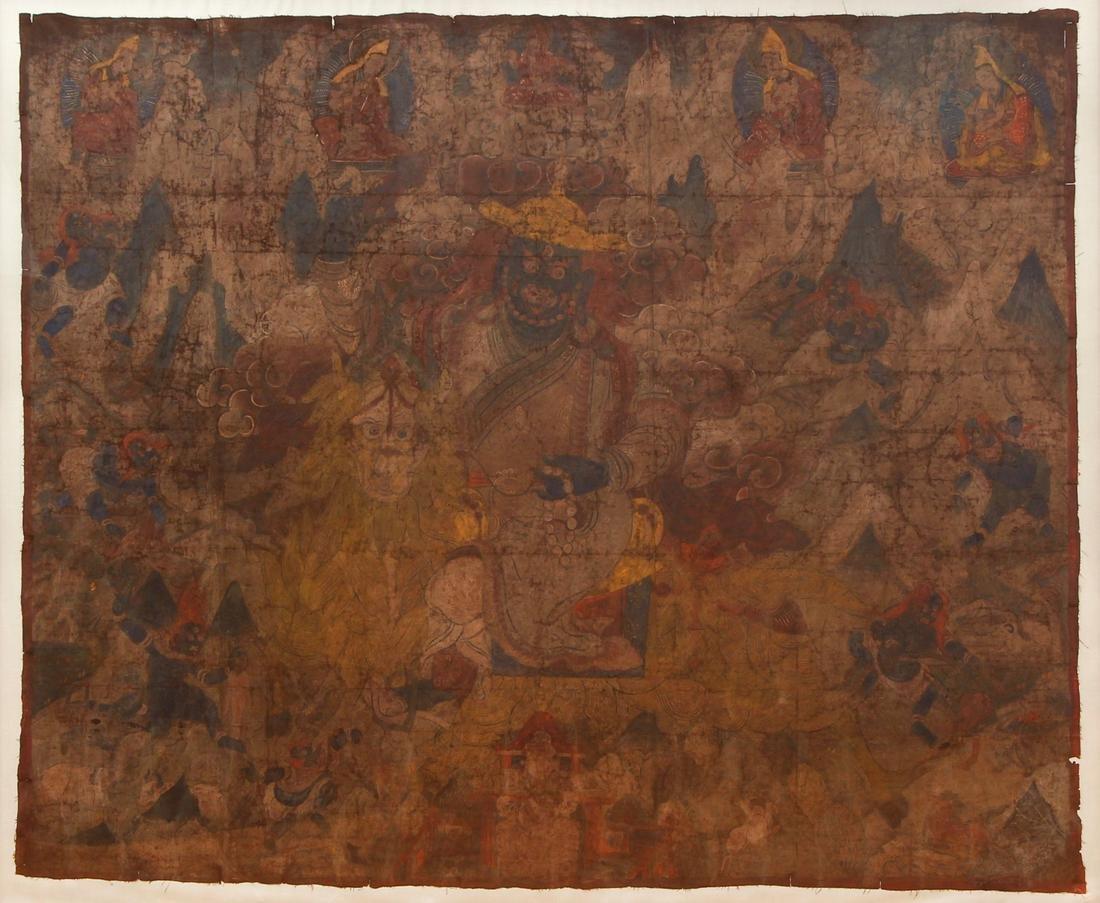 Large Tibetan Thangka Dorje Legpa