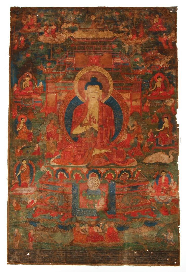 Tibetan Thangka Buddha Maitreya