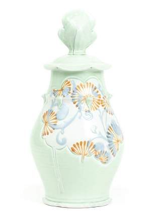 Jennifer Allen Tall Ceramic Vase with Lid