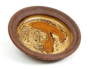 Edna Arnow Stoneware Shallow Bowl