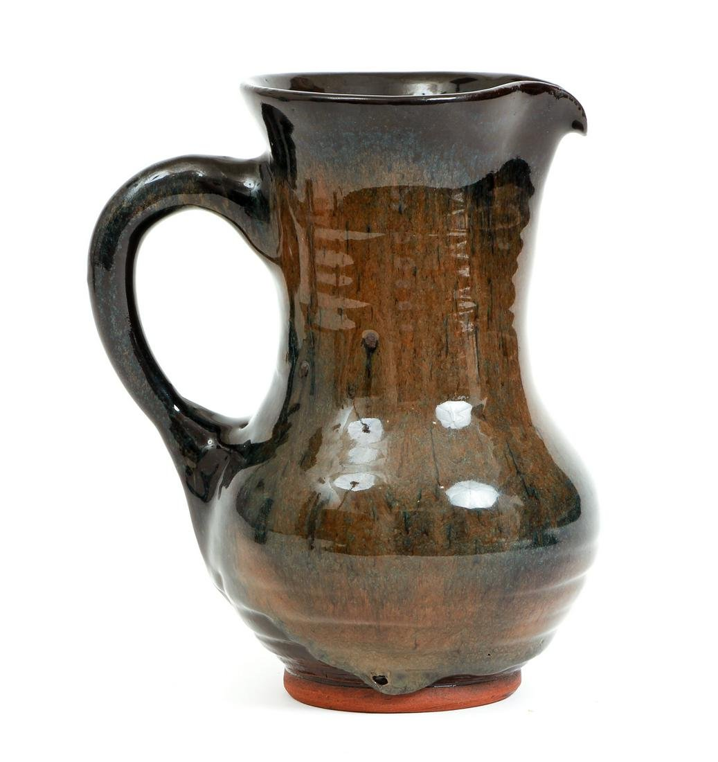 Harding Black Glazed Ceramic Pitcher