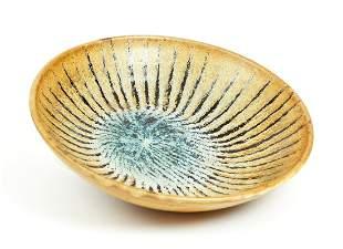 Harding Black Tiger Stripe Bowl Ceramic
