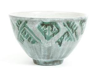 Paul Bonifas Large Ceramic Bowl Glazed