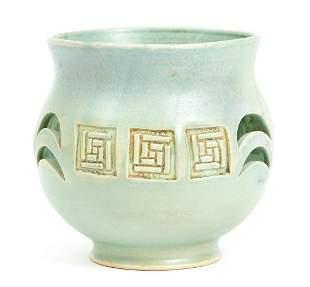 Marianne Brown Ceramic Bowl Green