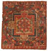 Chakrasamvara Mandala Tibetan Thangka