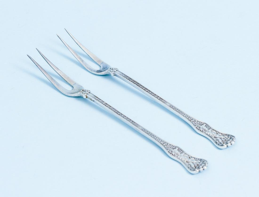 Pair Tiffany Sterling Olympian Forks