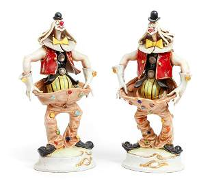 Pair of Perseo hand painted Italian Clowns