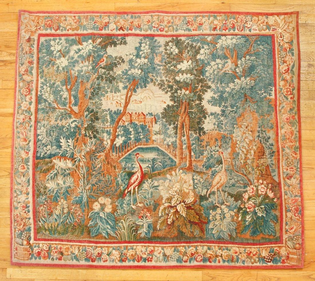 Large Woven Tapestry Birds Landscape