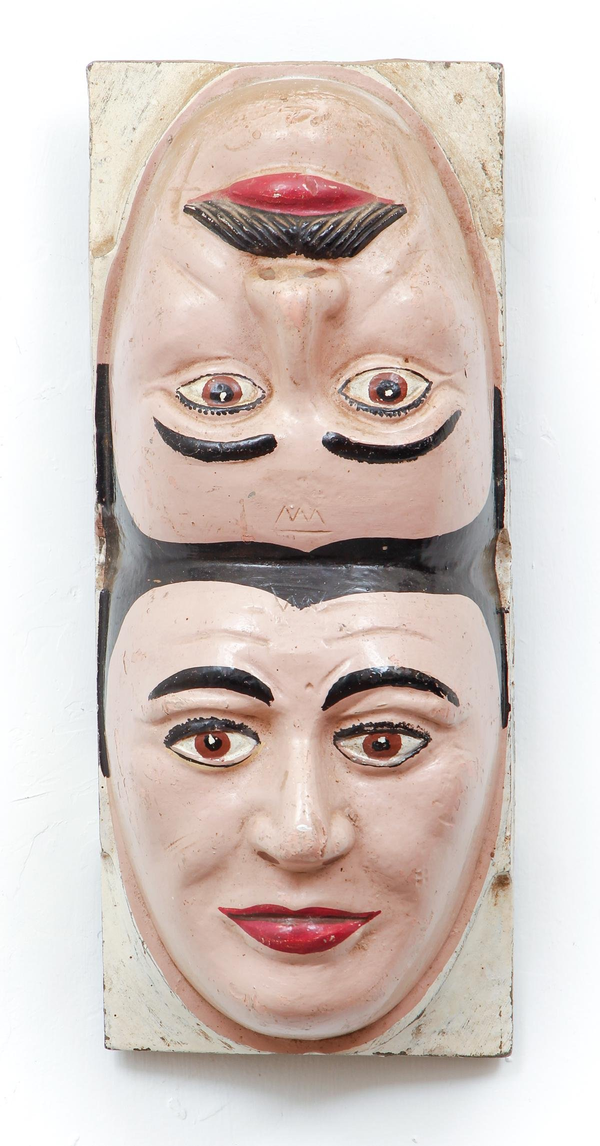 Two Faced Painted Iron Mask