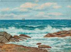 Ludwig Heitmuller Coastal Oil on Board