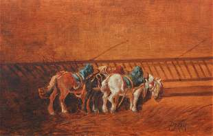Peray Oil Painting Horses Chile