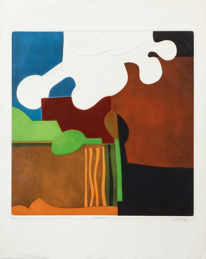 2 Bertrand Dorny signed orig color etchings