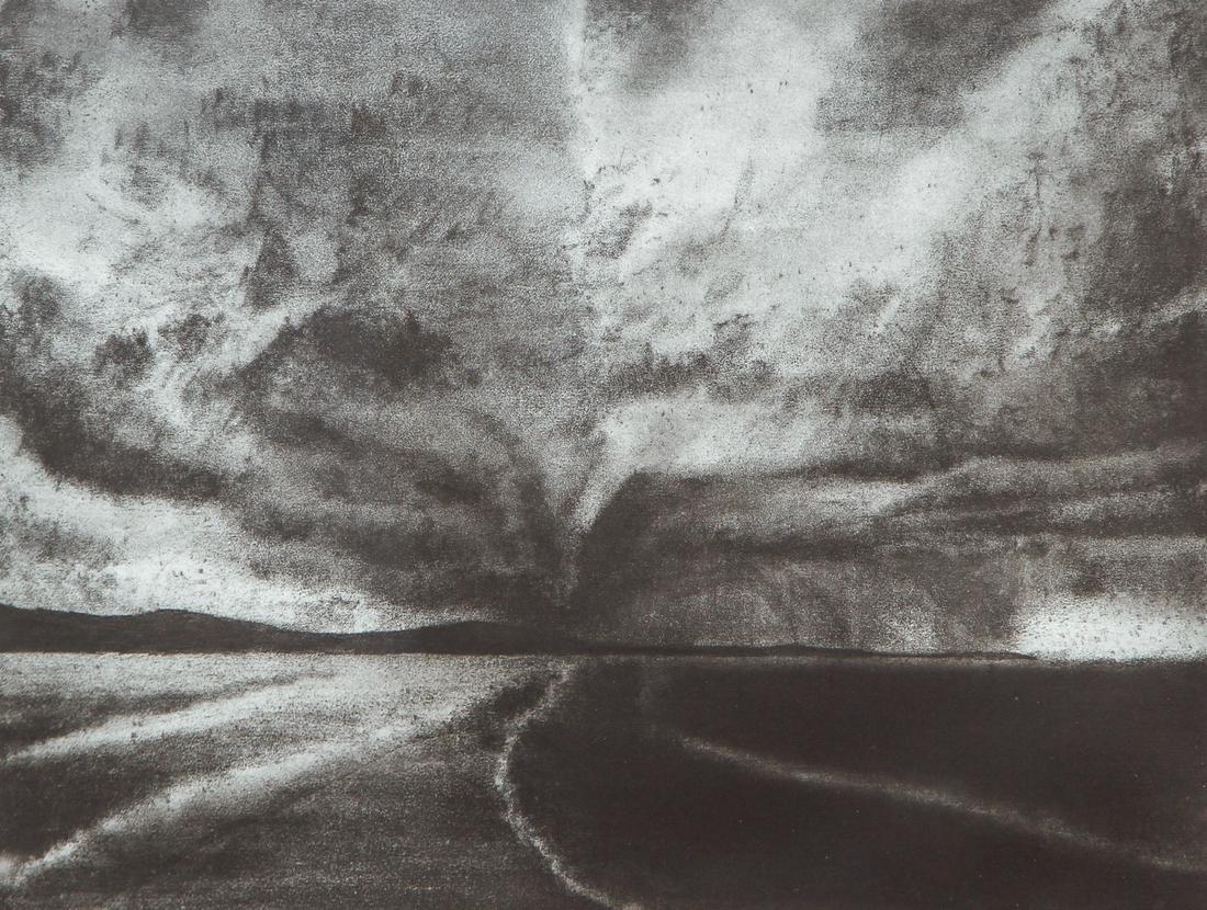 April Gornik 1994 etching and aquatint  Road