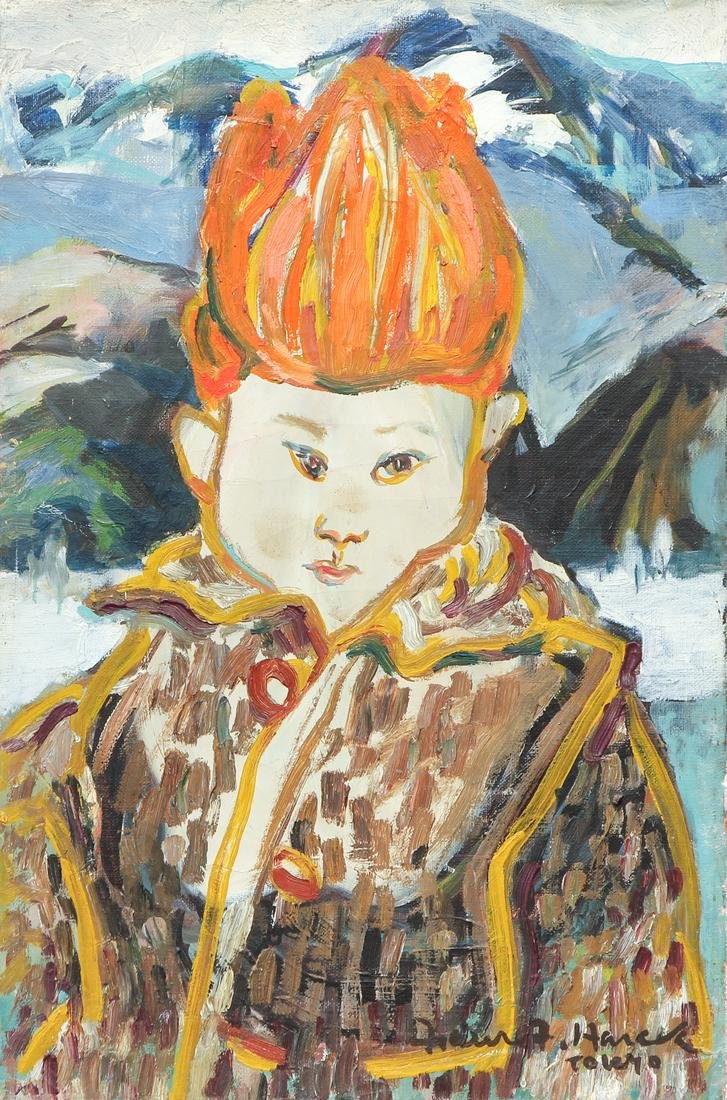 Faure Harada Oil Painting Japanese