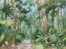 Morgan Samuel Price Jungle Oil Painting