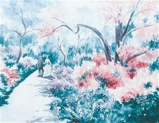 Jamie Swindall Watercolor Floral 1992