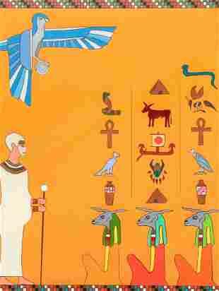 Paul Wargo Egyptian Themed Art Work