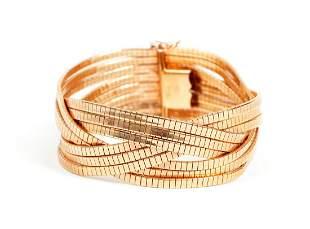 Italian Bronze Braided Bracelet