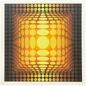 Victor Vasarely Signed Serigraph Op Art