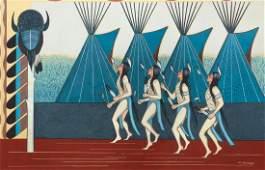 Alfred Momaday Native American Kiowa Painting