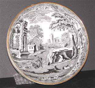 Spode Transfer Decorated Ceramic Bowl