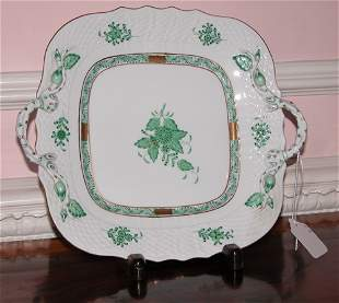 Herend Porcelain Handled Plate