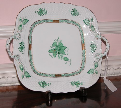 7: Herend Porcelain Handled Plate