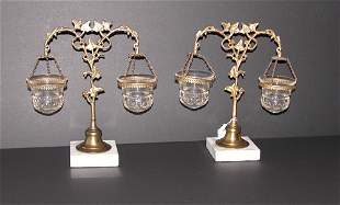 Pair of Victorian Float Lamps