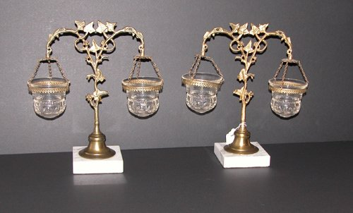 13: Pair of Victorian Float Lamps