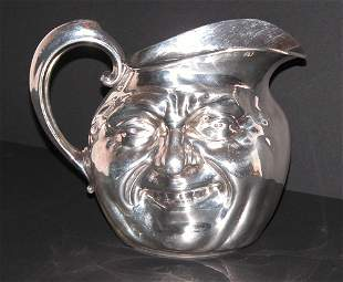 Reed Barton Silver Plate Face Pitcher