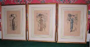 Three French Costume Prints