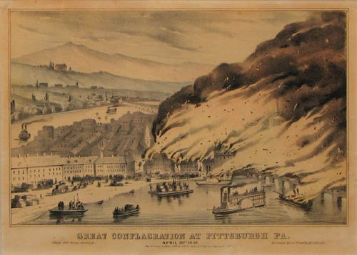 3: The Great Conflagration at Pittsburgh litho
