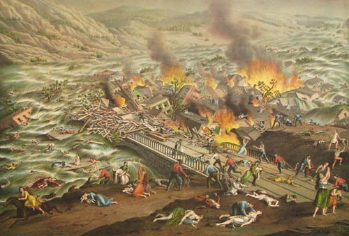 5: The Great Conemaugh Valley Disaster litho