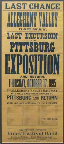 6: Allegheny Valley Railroad Excursion broadside