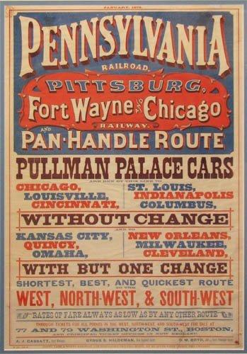 7: Pennsylvania & Ft Wayne Railroad litho