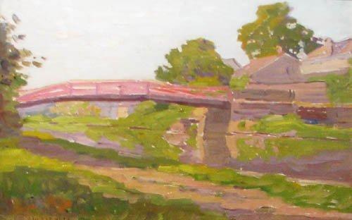 9: J.W. Flender Covered Bridge Painting