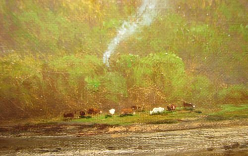11: George Hetzel painting Farm with Grazing Cattle - 6