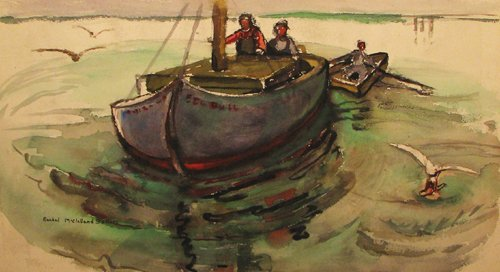 12: Rachel McClelland Sutton Fishermen Scene