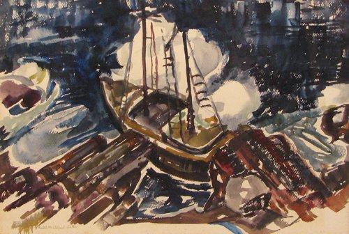 19: Rachel McClelland Sutton Sailboat watercolor