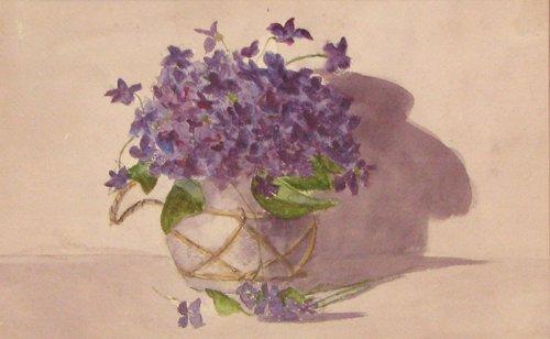 21: Early Rachel McClelland Sutton Violets Still Life