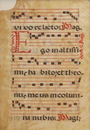 271: Framed sheet Gregorian Chant