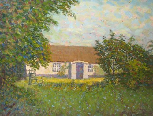 1A: James Bonar ptg of a Scottish Cottage