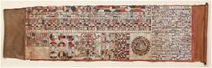 Tibetan Astrological Chart Fortune Teller Scroll