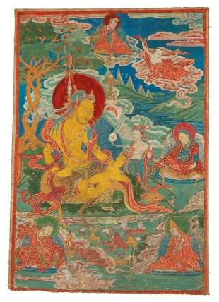 Tibetan Thangka Mahasiddha The Great Adept