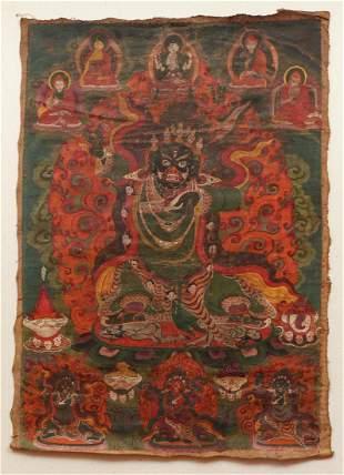Tibetan Thangka Wrathful Mahakala