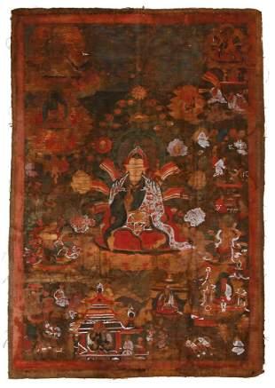 Tibetan Thangka Guru Rinpoche Padmasambhava