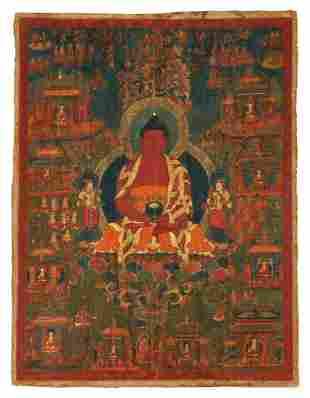 Tibetan Thangka Amitabha in Paradise